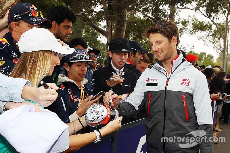 """Romain Grosjean, votado como """"el piloto del Día"""", en Melbourne"""