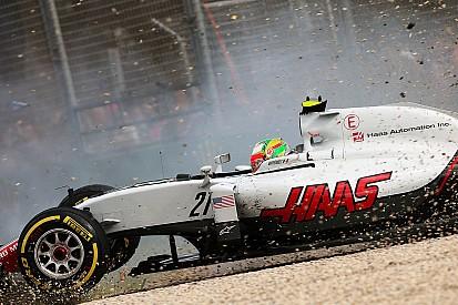 هيكل سيارة جديد لغوتيريز في البحرين بعد حادثه مع ألونسو