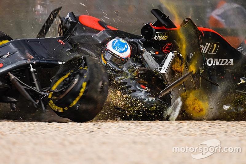 El asiento de Alonso se agrietó en Australia