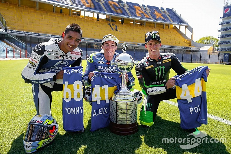 Futebol e MotoGP se misturam em Buenos Aires