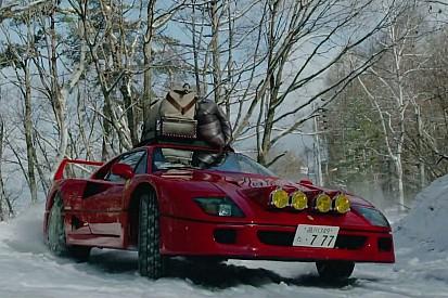 Vidéo - Cette Ferrari F40 affronte une piste de ski