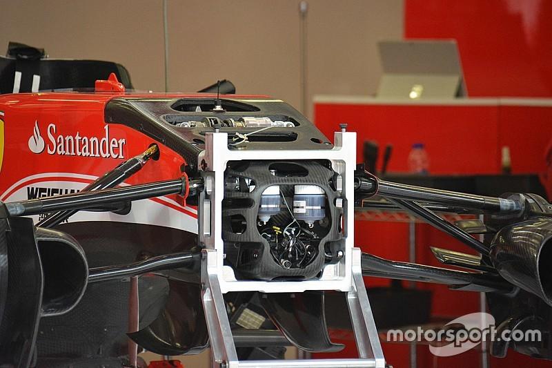Technique - Suspensions peaufinées sur la Ferrari SF16-H