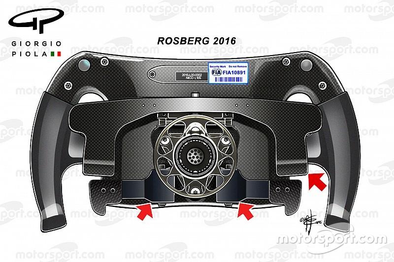 Tech update: Het stuurwiel van Nico Rosberg