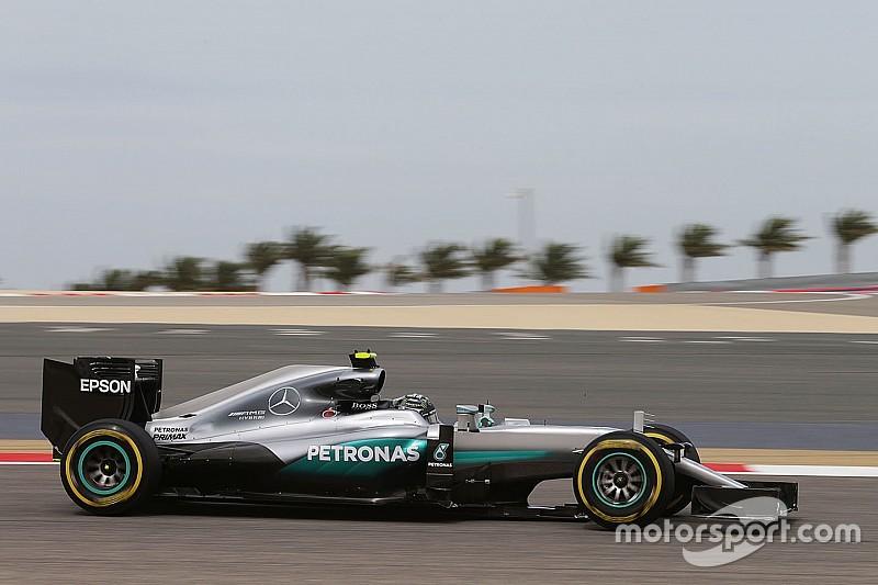Rosberg snelste in eerste training Bahrein, Verstappen achtste en Vandoorne achttiende