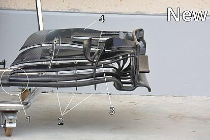 Análise técnica: a asa dianteira da McLaren no Bahrein