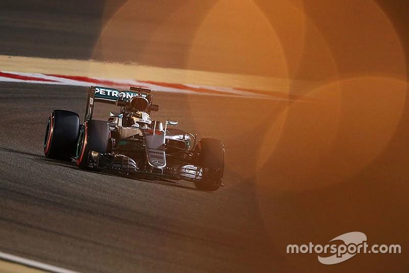 Die Startaufstellung zum Grand Prix von Bahrain