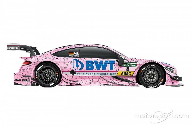 Zweimal Rosa bei Mercedes: Lucas Auer und Christian Vietoris mit identischem DTM-Design