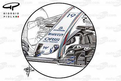 Technique - Les évolutions de Williams, Force India et McLaren