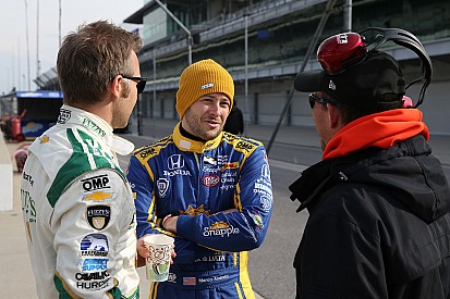 Marco Andretti topt test in Indianapolis