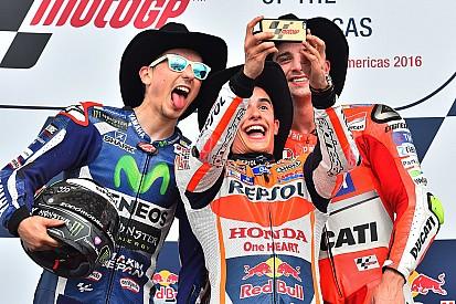 Márquez vence com sobras prova marcada por queda de Rossi
