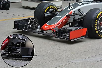 Formel-1-Technik: Neuerungen am Haas-Frontflügel
