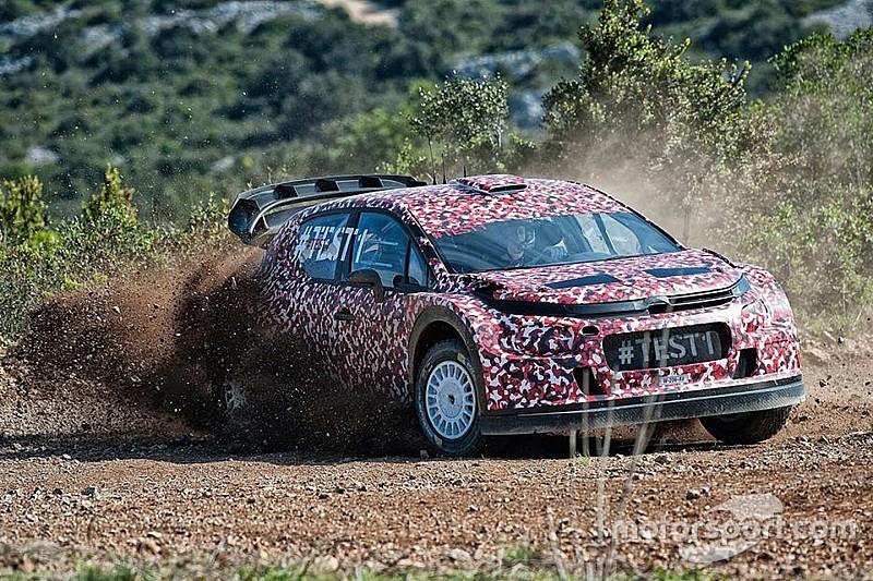 Eerste foto's: Citroën test WRC-auto van 2017