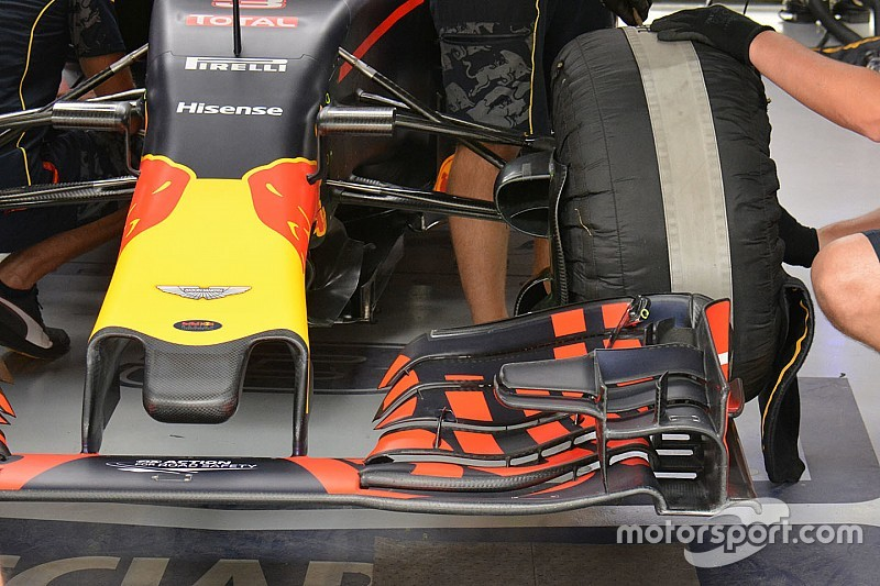 Tech update: Gekartelde voorvleugel Red Bull RB12