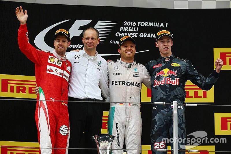 Course - Rosberg maîtrise devant la foire d'empoigne