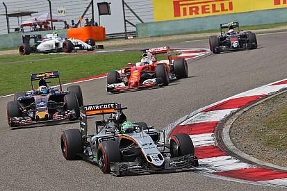 Hülkenberg - Force India handicapé par la voiture de sécurité
