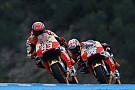 Marquez en Pedrosa worstelen met afstelling in Jerez