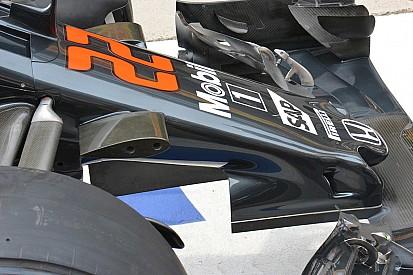 McLaren, dal soffiaggio dei piloni alla deriva sotto al muso