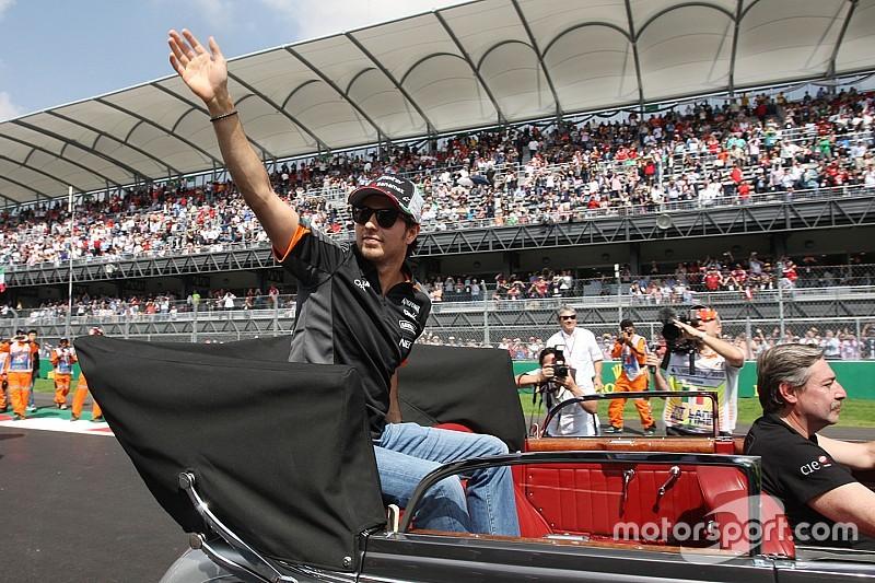 Le coup d'œil de Pérez dans le rétro avant son 100e GP