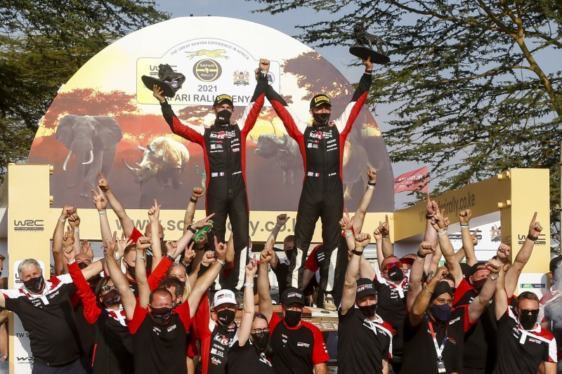 """Toyota feiert Ogier nach Sieg in Kenia: """"Das ist wirklich ein besonderer Tag"""""""