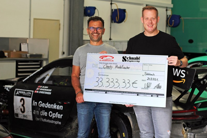 Schnabl sammelt durch Spa-Einsatz 33.333,33 Euro Spendengelder