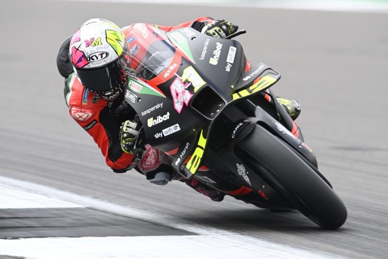 MotoGP Silverstone Warm-up: Bestzeit Aleix Espargaro, Marc Marquez gestürzt