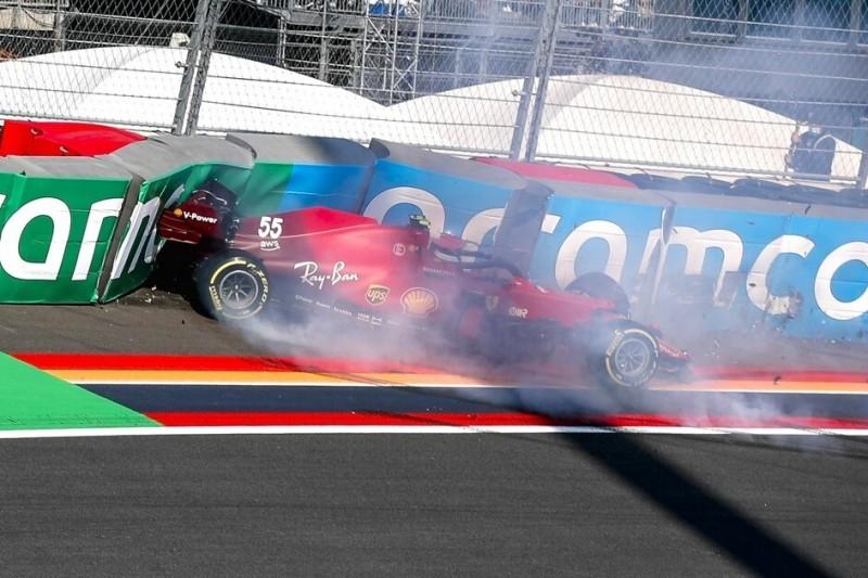"""Ferrari-Fahrer Sainz: Trainingscrash war """"verdient"""""""