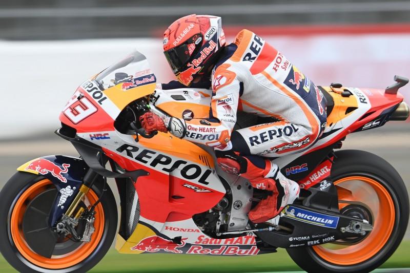 MotoGP Aragon FT1: Marquez fährt klare Bestzeit - Rossi nach Sturz auf P20