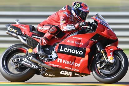 MotoGP Aragon: Bagnaia im Warm-up knapp vor Nakagami und Mir