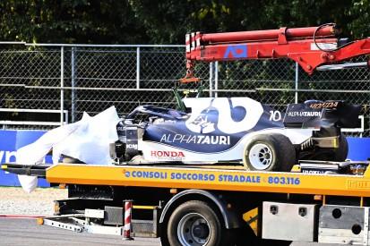 Nach Crash im Sprint: Pierre Gasly startet in Monza aus der Boxengasse