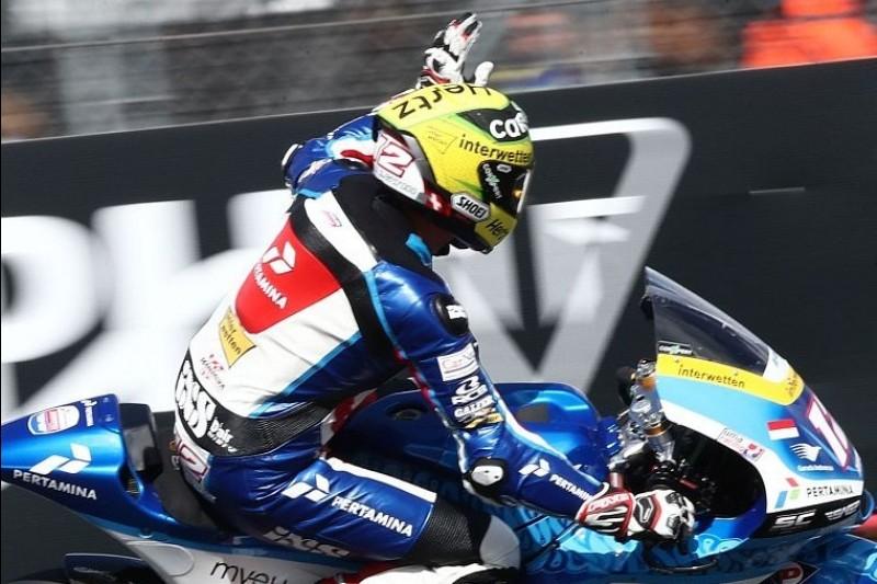 Moto2 Misano FT2: Wieder nasse Session, Tom Lüthi bleibt am Freitag vorne