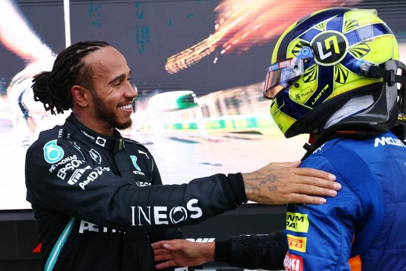 """Hamilton schwärmt von Norris: """"Hat noch viele Siege vor sich"""""""