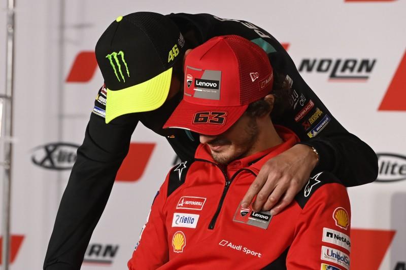 Heikle Reifenwahl: Rossi scheiterte beim Versuch, Bagnaia umzustimmen