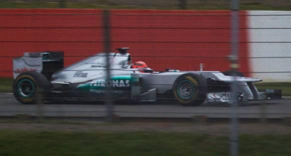 Mercedes W03 ilk denemesini başarıyla gerçekleştirdi