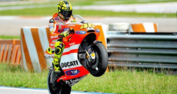 Rossi sürüş pozisyonunu değiştirebilir