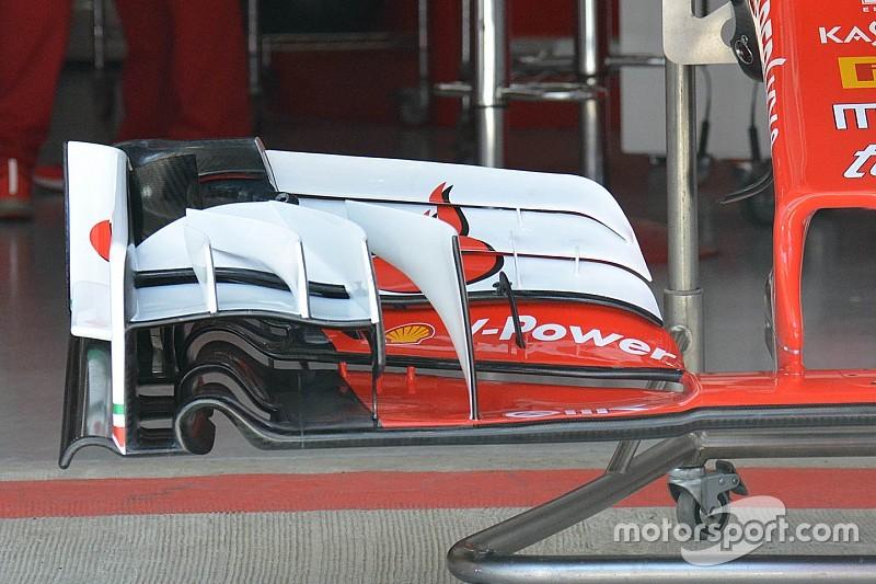 Formel-1-Technik: Ferrari mit neuem Fronflügel in Russland