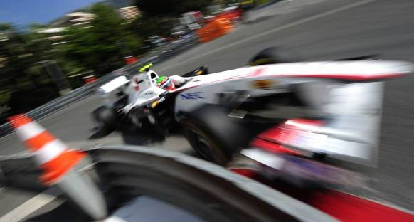 Perez'den sıralamalarda ciddi kaza