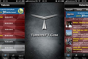 Türkiye - Pist Son dakika TurkiyeF1 iPhone uygulaması yenilendi