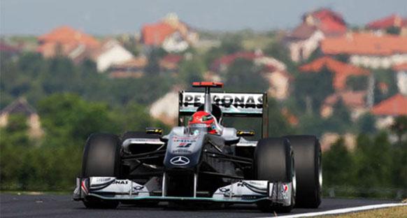 Schumacher, Spa'da 10 sıra geriden başlayacak