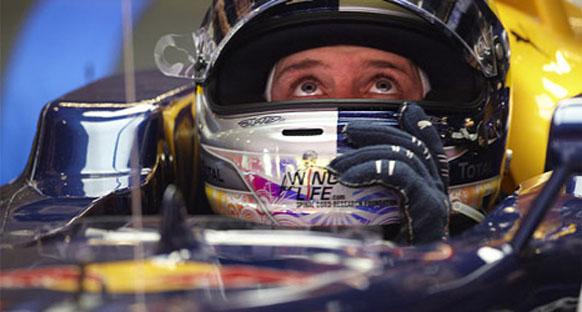 Vettel: '3. sektör Webber'e pole'ü getirdi'