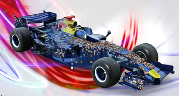 Williams ve Red Bull Kızıl Meydan'da gösteri yaptı