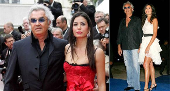 'Üstsüz' şarkıcı Briatore'yi manşetlere taşıdı
