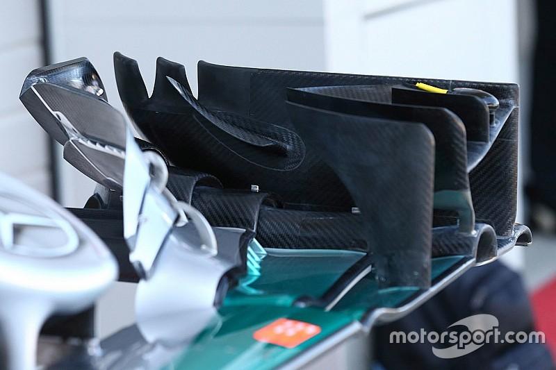 Formel-1-Technik: Der neue Frontflügel von Mercedes optimiert den Luftfluss
