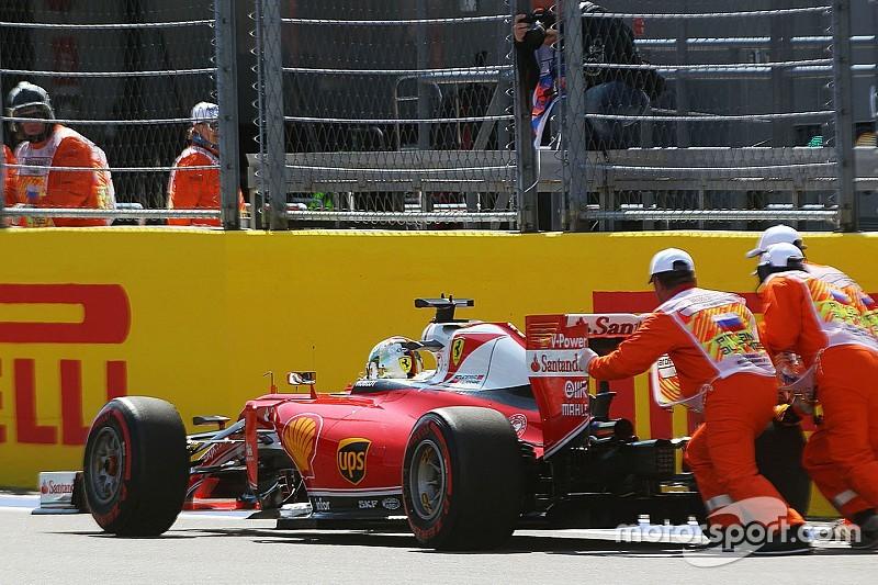 Vettel vijf startplaatsen achteruit na versnellingsbakwissel