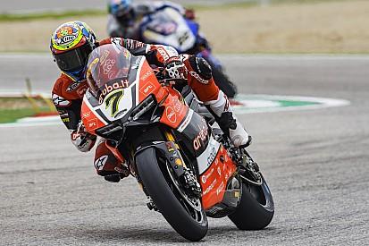 WSBK Imola: Flinke crash Guintoli, Honda-rijders missen snelheid