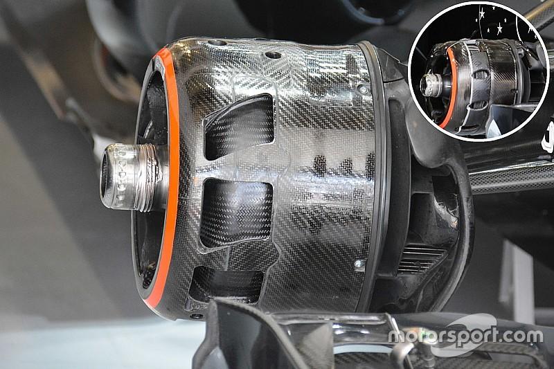 Formel-1-Technik: Veränderte Bremsbelüftung am McLaren MP4-31