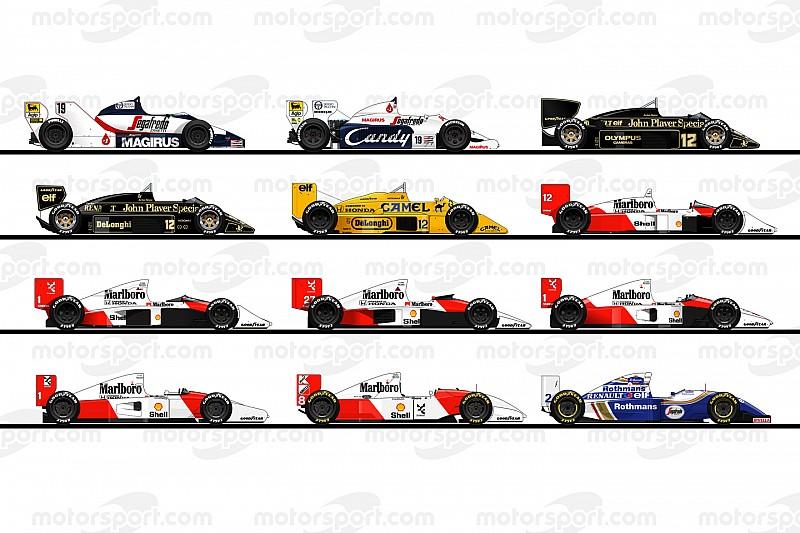 1984-1994: 回顾塞纳F1生涯驾驶过的那些赛车