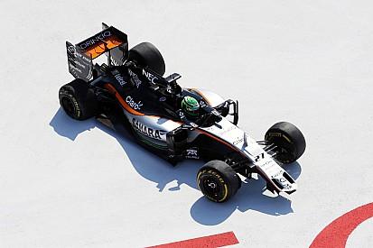 Les Force India victimes du premier freinage