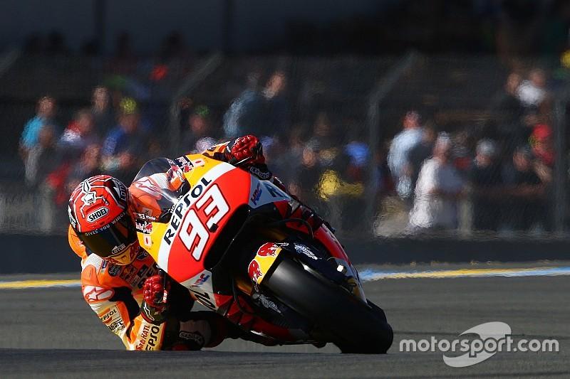 Marquez solide derde in Le Mans, Pedrosa zakt weg