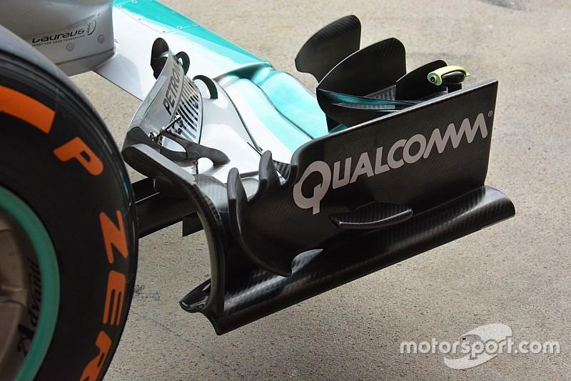 Tech update: Mercedes monteert nieuwe voorvleugel op W07