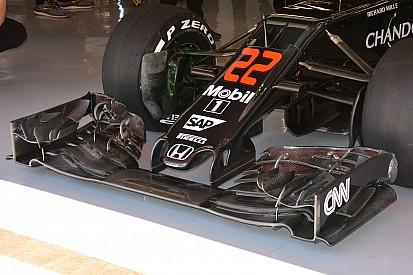 Análisis técnico: Nuevo alerón delantero y conductos de frenos del McLaren